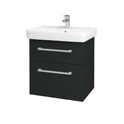 Dreja - Kúpeľňová skriňa Q MAX SZZ2 60 - L03 Antracit vysoký lesk / Úchytka T03 / L03 Antracit vysoký lesk (60377C)