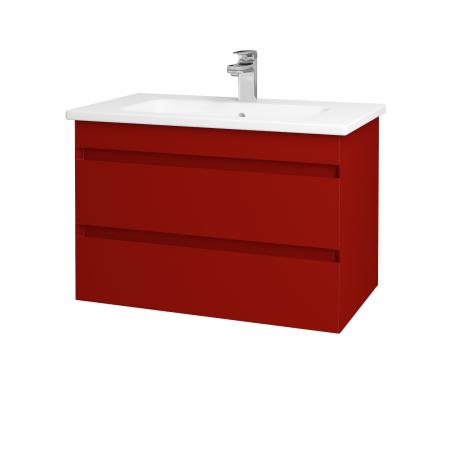 Dreja - Kúpeľňová skriňa MAJESTY SZZ2 80 - L07 Červená vysoký lesk / L07 Červená vysoký lesk (83758)