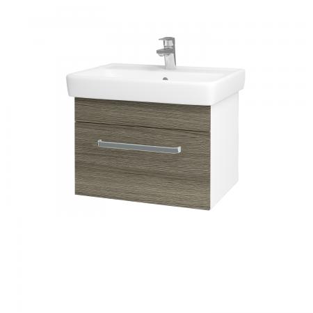 Dreja - Kúpeľňová skriňa Q UNO SZZ 60 - N01 Bílá lesk / Úchytka T01 / D03 Cafe (20975A)