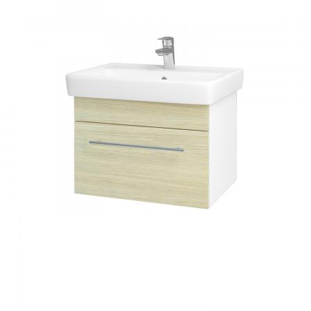 Dreja - Kúpeľňová skriňa Q UNO SZZ 60 - N01 Bílá lesk / Úchytka T02 / D04 Dub (20043B)