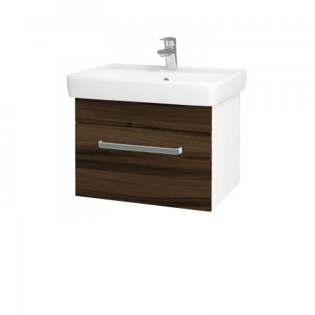 Dreja - Kúpeľňová skriňa Q UNO SZZ 60 - N01 Bílá lesk / Úchytka T01 / D06 Ořech (20050A)