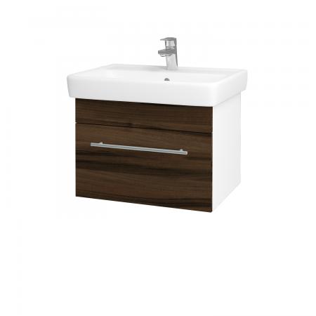 Dreja - Kúpeľňová skriňa Q UNO SZZ 60 - N01 Bílá lesk / Úchytka T02 / D06 Ořech (20050B)