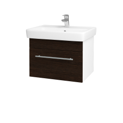 Dreja - Kúpeľňová skriňa Q UNO SZZ 60 - N01 Bílá lesk / Úchytka T02 / D08 Wenge (20067B)