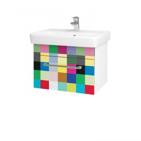 Dreja - Kúpeľňová skriňa Q UNO SZZ 60 - N01 Bílá lesk / Úchytka T03 / IND Individual (20913C)