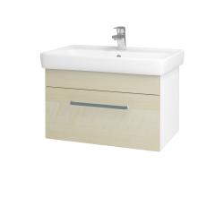 Dreja - Kúpeľňová skriňa Q UNO SZZ 70 - N01 Bílá lesk / Úchytka T01 / D02 Bříza (21002A)