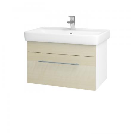 Dreja - Kúpeľňová skriňa Q UNO SZZ 70 - N01 Bílá lesk / Úchytka T02 / D02 Bříza (21002B)