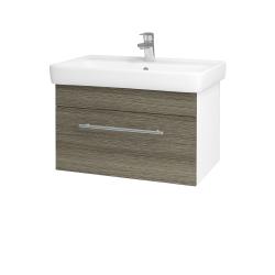 Dreja - Kúpeľňová skriňa Q UNO SZZ 70 - N01 Bílá lesk / Úchytka T02 / D03 Cafe (20999B)