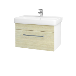 Dreja - Kúpeľňová skriňa Q UNO SZZ 70 - N01 Bílá lesk / Úchytka T03 / D04 Dub (20074C)