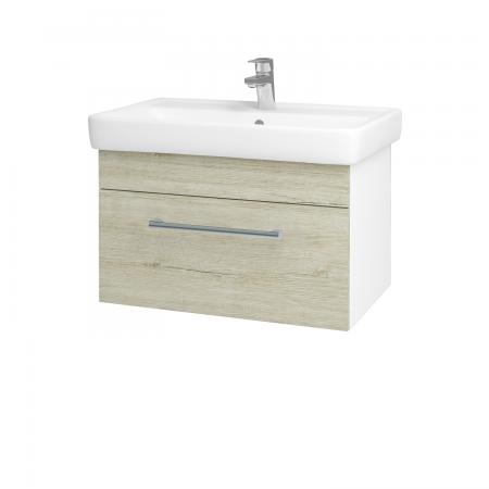 Dreja - Kúpeľňová skriňa Q UNO SZZ 70 - N01 Bílá lesk / Úchytka T03 / D05 Oregon (23709C)