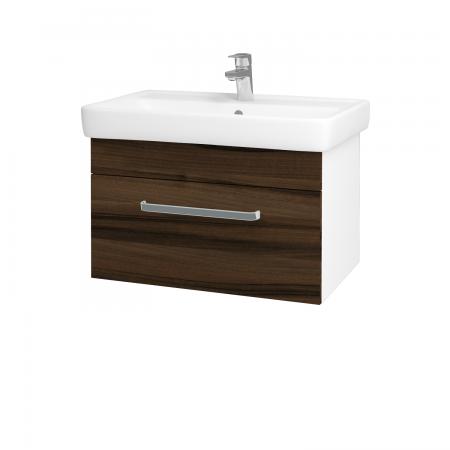Dreja - Kúpeľňová skriňa Q UNO SZZ 70 - N01 Bílá lesk / Úchytka T01 / D06 Ořech (20081A)