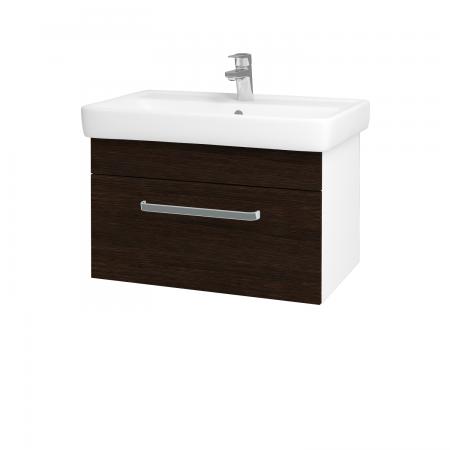 Dreja - Kúpeľňová skriňa Q UNO SZZ 70 - N01 Bílá lesk / Úchytka T01 / D08 Wenge (20609A)
