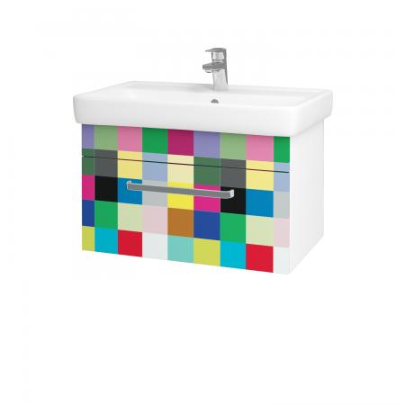 Dreja - Kúpeľňová skriňa Q UNO SZZ 70 - N01 Bílá lesk / Úchytka T01 / IND Individual (20920A)