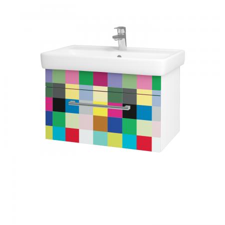 Dreja - Kúpeľňová skriňa Q UNO SZZ 70 - N01 Bílá lesk / Úchytka T03 / IND Individual (20920C)