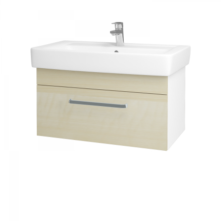Dreja - Kúpeľňová skriňa Q UNO SZZ 80 - N01 Bílá lesk / Úchytka T01 / D02 Bříza (21095A)