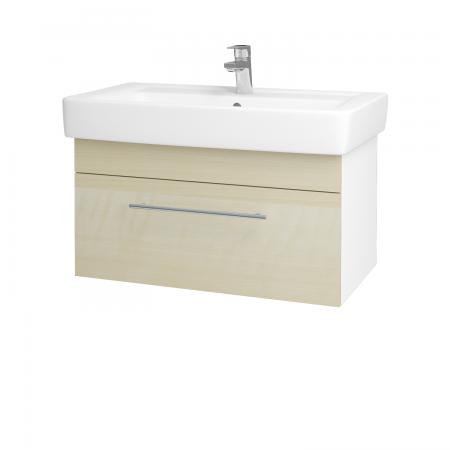Dreja - Kúpeľňová skriňa Q UNO SZZ 80 - N01 Bílá lesk / Úchytka T02 / D02 Bříza (21095B)