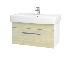Dreja - Kúpeľňová skriňa Q UNO SZZ 80 - N01 Bílá lesk / Úchytka T01 / D04 Dub (20104A)