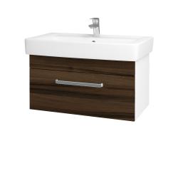 Dreja - Kúpeľňová skriňa Q UNO SZZ 80 - N01 Bílá lesk / Úchytka T01 / D06 Ořech (20111A)