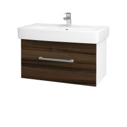 Dreja - Kúpeľňová skriňa Q UNO SZZ 80 - N01 Bílá lesk / Úchytka T03 / D06 Ořech (20111C)