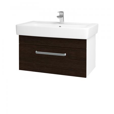 Dreja - Kúpeľňová skriňa Q UNO SZZ 80 - N01 Bílá lesk / Úchytka T01 / D08 Wenge (20128A)