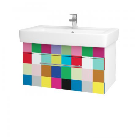 Dreja - Kúpeľňová skriňa Q UNO SZZ 80 - N01 Bílá lesk / Úchytka T02 / IND Individual (20937B)