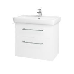 Dreja - Kúpeľňová skriňa Q MAX SZZ2 70 - N01 Bílá lesk / Úchytka T03 / L01 Bílá vysoký lesk (60155C)