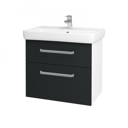 Dreja - Kúpeľňová skriňa Q MAX SZZ2 70 - N01 Bílá lesk / Úchytka T01 / L03 Antracit vysoký lesk (60148A)