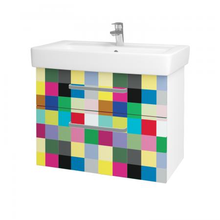Dreja - Kúpeľňová skriňa Q MAX SZZ2 80 - N01 Bílá lesk / Úchytka T01 / IND Individual (61572A)