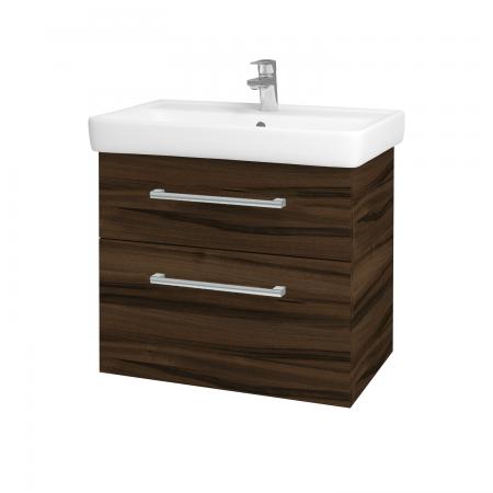 Dreja - Kúpeľňová skriňa Q MAX SZZ2 70 - D06 Ořech / Úchytka T03 / D06 Ořech (60414C)