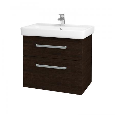 Dreja - Kúpeľňová skriňa Q MAX SZZ2 70 - D08 Wenge / Úchytka T01 / D08 Wenge (60315A)