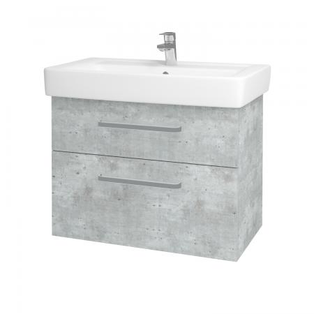 Dreja - Kúpeľňová skriňa Q MAX SZZ2 80 - D01 Beton / Úchytka T01 / D01 Beton (67543A)