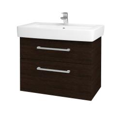 Dreja - Kúpeľňová skriňa Q MAX SZZ2 80 - D08 Wenge / Úchytka T03 / D08 Wenge (60339C)