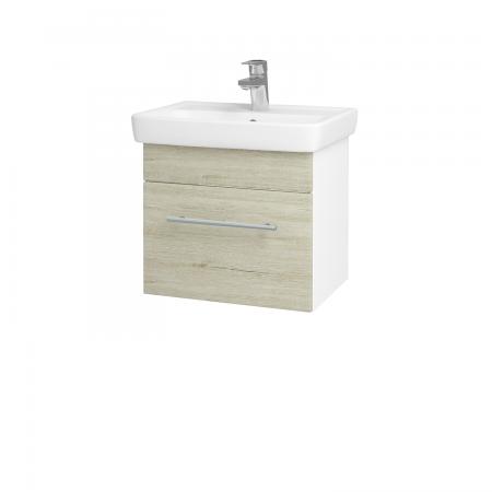 Dreja - Kúpeľňová skriňa SOLO SZZ 50 - N01 Bílá lesk / Úchytka T02 / D05 Oregon (23662B)