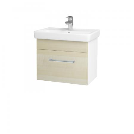 Dreja - Kúpeľňová skriňa SOLO SZZ 55 - N01 Bílá lesk / Úchytka T03 / D02 Bříza (21156C)
