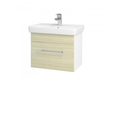 Dreja - Kúpeľňová skriňa SOLO SZZ 55 - N01 Bílá lesk / Úchytka T03 / D04 Dub (21866C)