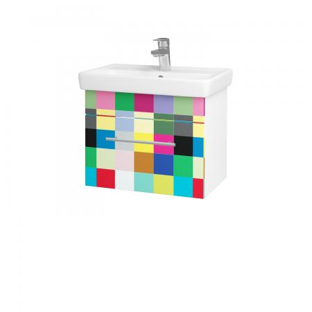 Dreja - Kúpeľňová skriňa SOLO SZZ 55 - N01 Bílá lesk / Úchytka T02 / IND Individual (20951B)