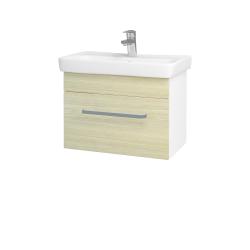 Dreja - Kúpeľňová skriňa SOLO SZZ 60 - N01 Bílá lesk / Úchytka T01 / D04 Dub (21880A)