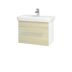 Dreja - Kúpeľňová skriňa SOLO SZZ 60 - N01 Bílá lesk / Úchytka T02 / D04 Dub (21880B)