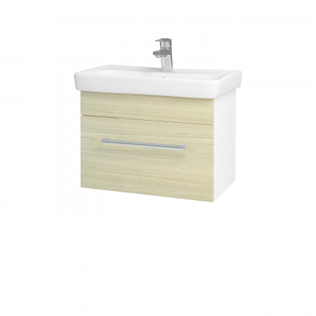 Dreja - Kúpeľňová skriňa SOLO SZZ 60 - N01 Bílá lesk / Úchytka T03 / D04 Dub (21880C)