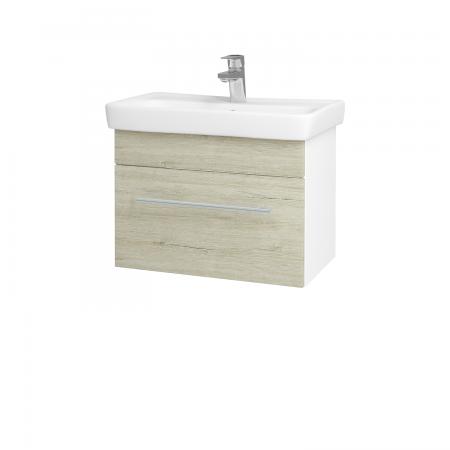 Dreja - Kúpeľňová skriňa SOLO SZZ 60 - N01 Bílá lesk / Úchytka T02 / D05 Oregon (23686B)