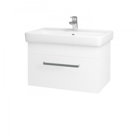 Dreja - Kúpeľňová skriňa Q UNO SZZ 70 - N01 Bílá lesk / Úchytka T01 / L01 Bílá vysoký lesk (20029A)