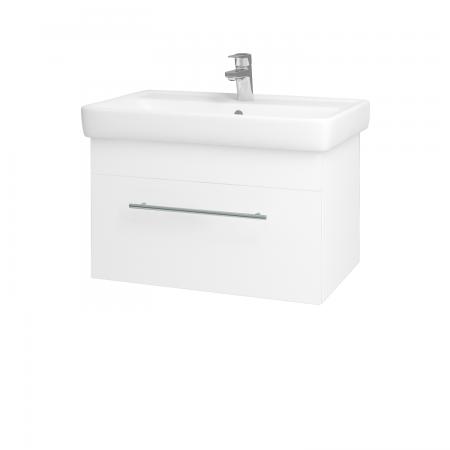 Dreja - Kúpeľňová skriňa Q UNO SZZ 70 - N01 Bílá lesk / Úchytka T02 / L01 Bílá vysoký lesk (20029B)