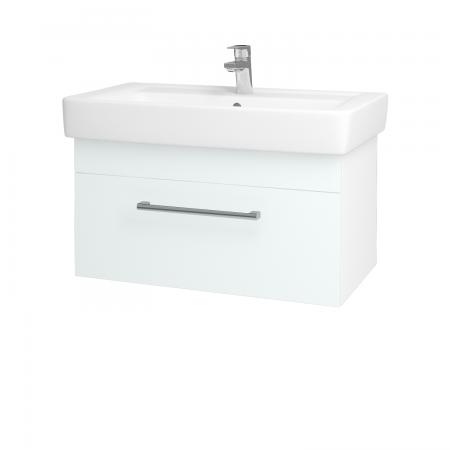 Dreja - Kúpeľňová skriňa Q UNO SZZ 80 - N01 Bílá lesk / Úchytka T03 / L01 Bílá vysoký lesk (20036C)