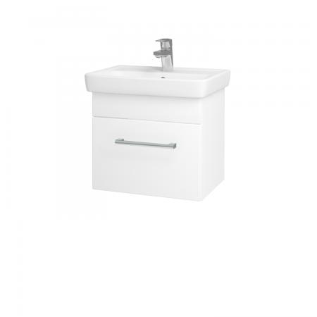 Dreja - Kúpeľňová skriňa SOLO SZZ 50 - N01 Bílá lesk / Úchytka T03 / L01 Bílá vysoký lesk (21811C)
