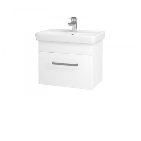 Dreja - Kúpeľňová skriňa SOLO SZZ 55 - N01 Bílá lesk / Úchytka T01 / L01 Bílá vysoký lesk (21828A)