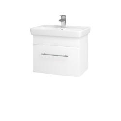 Dreja - Kúpeľňová skriňa SOLO SZZ 55 - N01 Bílá lesk / Úchytka T02 / L01 Bílá vysoký lesk (21828B)