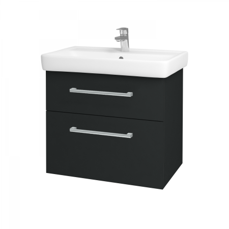 Dreja - Kúpeľňová skriňa Q MAX SZZ2 70 - L03 Antracit vysoký lesk / Úchytka T03 / L03 Antracit vysoký lesk (60384C)
