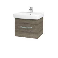 Dreja - Kúpeľňová skriňa Q UNO SZZ 55 - D03 Cafe / Úchytka T03 / D03 Cafe (28216C)