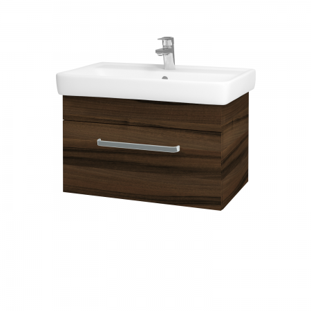 Dreja - Kúpeľňová skriňa Q UNO SZZ 70 - D06 Ořech / Úchytka T01 / D06 Ořech (28438A)
