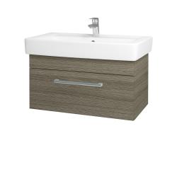 Dreja - Kúpeľňová skriňa Q UNO SZZ 80 - D03 Cafe / Úchytka T03 / D03 Cafe (28469C)