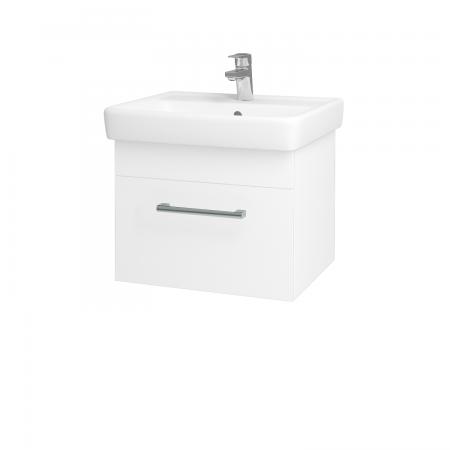 Dreja - Kúpeľňová skriňa Q UNO SZZ 55 - N01 Bílá lesk / Úchytka T03 / L01 Bílá vysoký lesk (20241C)